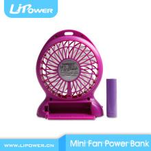 2016 novo design de alta qualidade USB ventilador de lítio bateria recarregável mini ventilador