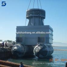 Airbags inflables del caucho marino para el lanzamiento de la nave y la elevación pesada hechos en China
