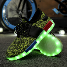 LED Schuhe Sportschuhe für Männer Frauen Stoff Größe 35-46