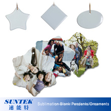 Christmas Decorations Sublimation Ceramic Blank Oval Shape Ceramic Pendant/Ornament