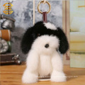 Lovely Plush Dog Key Ring Plush Cartoon Figures Mink Fur Key Chain Wholesale