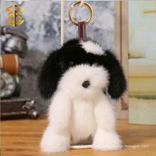 Lovely Plush Dog Key Ring Plush Cartoon Figures Mink Fur Key Chain Wholesale