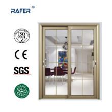 Puerta de vidrio corredera barata de doble hoja (RA-G147)
