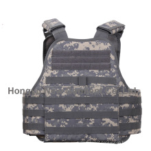 Military Acu Digital Camouflage Fabric Molle Plate Carrier Vest (HY-BA024)