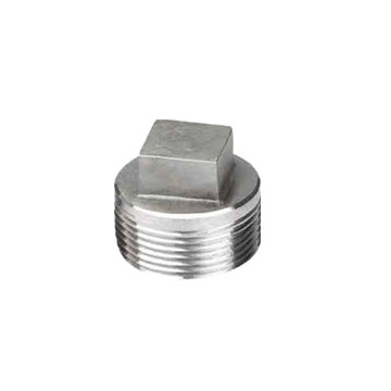 Stainless steel male threaded square head plug