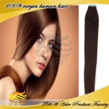 2015 melhor vender virgem cabelo Philippine seda reta extensão de cabelo humano