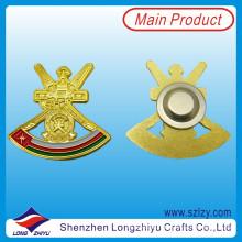 Oman militar banhado a ouro esmalte lapela pin com ímã (lzy-10000281)