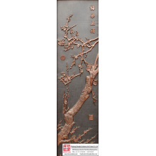 House Decor Wintersweet Relief Mural