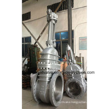 API6d 150lb 300lb 600lb Cast Steel Gear Operation Gate Valve