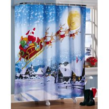 Pola Shower Curtain tahan air Mandi Natal