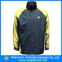 Oxford-Stoff-Fleecejacken der Shenzhen-Kleiderfabrik-Männer