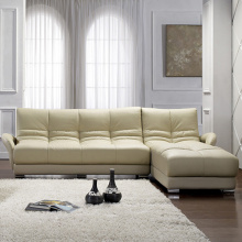 Chaise L-Shaped Leather Sectional Sofa Set Design