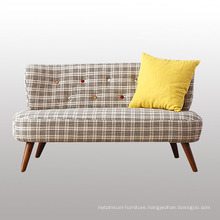 New Design Living Room Furniture Fabric Sofa with Wood Legs