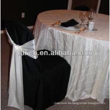 Pintuck tafetán manteles para boda
