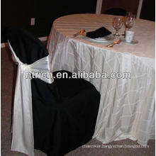 Pintuck taffeta table cloth for wedding