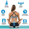Cojín de asiento mejorado de gel - Cojín ortopédico antideslizante de gel y espuma viscoelástica para el dolor de cóccix - Silla de oficina Cojín de asiento de coche - Alivio del dolor de espalda y ciática