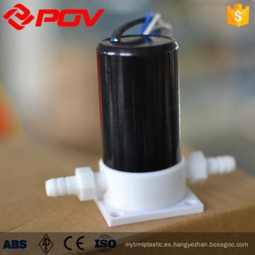 Válvula electromagnética micro miniatura de baja presión corrosiva ácida plástica