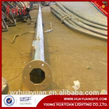 L'acier octogonale galvanisé à chaud est articulé et pliable, le poteau d'éclairage routier et le poste de lampe
