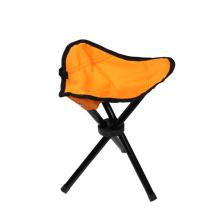 Lightweight small size folding camping stool tripod fishing chair