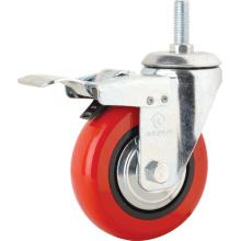 Roues à roulettes Pvu à double rouleau à tige filetée (KMX5-10)