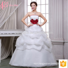 Puffy ball gown multilayer lace appliques cheap wholesales wedding dress