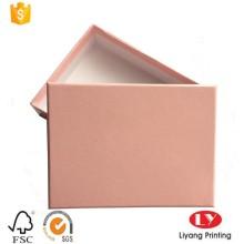 изготовленный на заказ коробка подарка handmade бумаги упаковывая шарф