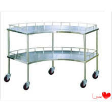 S. S Hospital Furniture Scollopped Trolley