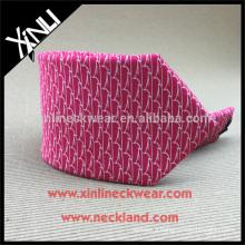 100% Handmade Perfect Knot Printed Neck Tie Pure Silk
