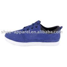 zapatos de skate azul caliente con gamuza superior