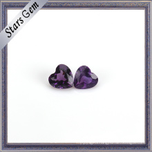 Deep Purple Natural Amethyst Heart Shape Gemstone