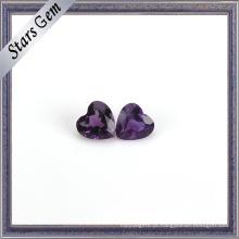 Deep Purple Natural Ametista Coração Forma Gemstone