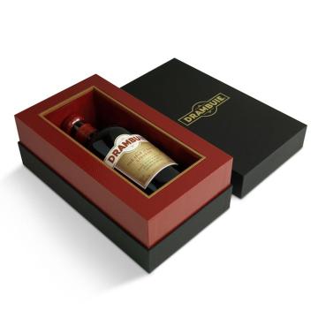 Caixa de presente de papel de vinho de luxo de baixo preço e alta