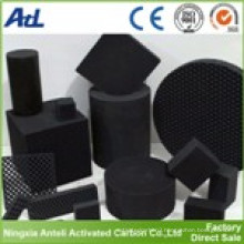 Activated carbon filled in honeycomb for air purifier