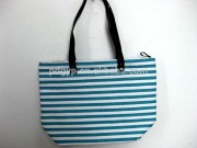Hot selling and eco-friendly cotton fabric handbags with PVC cotton handle