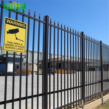 polyester powder coated galvanized steel fence