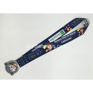 Good looking Dye Sublimation Lanyards dengan medali