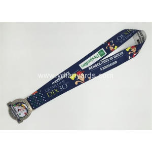 Good-looking  Dye Sublimation Lanyards with medal