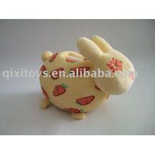 caixa enchida da economia do dinheiro do coelho do luxuoso, banco de moeda animal do coelho