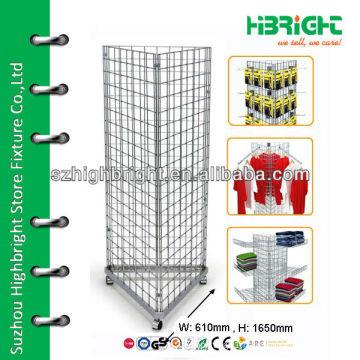 triangle wire mesh floor display