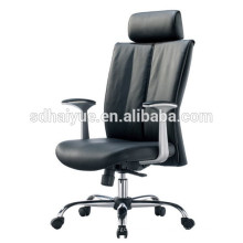 2017 good quality soft leather high back chair with armrest