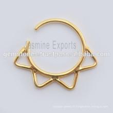 Septum Nose Ring Jewelry Vente en gros de bijoux tribaux Septum Piercing Nose Ring Jewelry Exporters