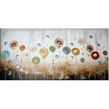 Handmade Abstract Flower Oil Paintings on Canvas