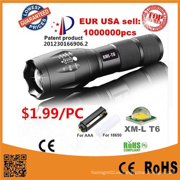 G700 CREE Xm-L T6 LED Táctico Zoomable linterna