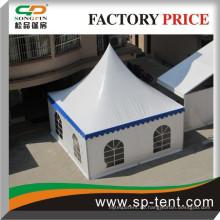 6x6m PVC-Fensterwände Hochzeitsfest wasserdichte Zeltkappe für kleine Catering-Veranstaltungen