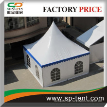 6x6m PVC fenêtres mur de mariage cloture imperméable à la tente pour petits événements de restauration