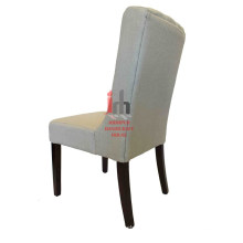 Fabric Plain Cushioned Dining Chair