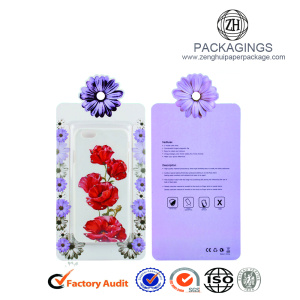 Retail paper cell phone case packaging box