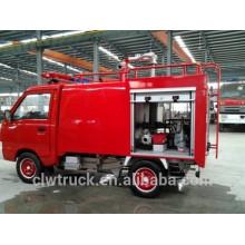 Super mini caminhão de bombeiros vendas, 0,5 tonelada mini carro de bombeiros