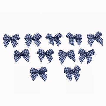 Navy Chex Ribbon Bow