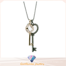 Key Shape Design Jewelry High Quality Woman′s Fashion Jewelry 925 Sterling Silver Jewelry Necklace (N6663)